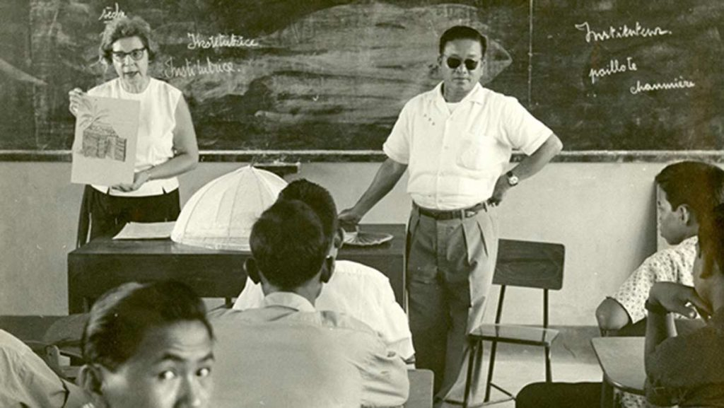 Teaching in Vietnam long ago. Photo courtesy of Manhhai.