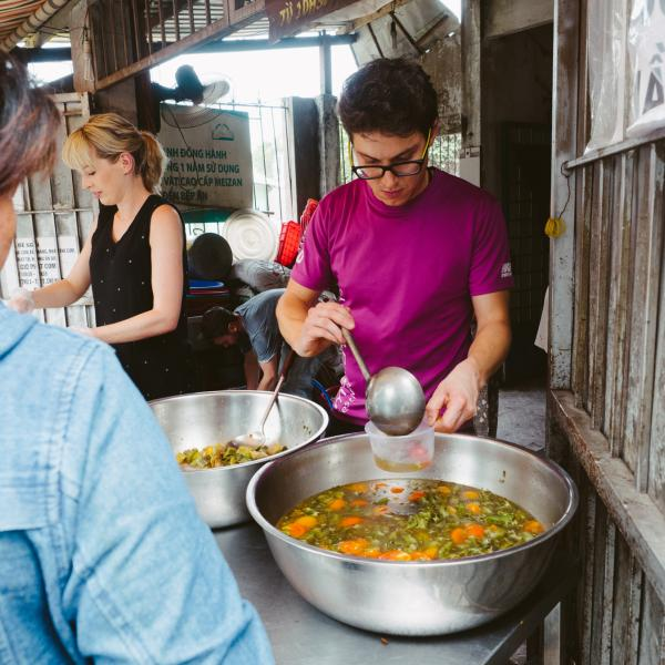 Cooking food to help people