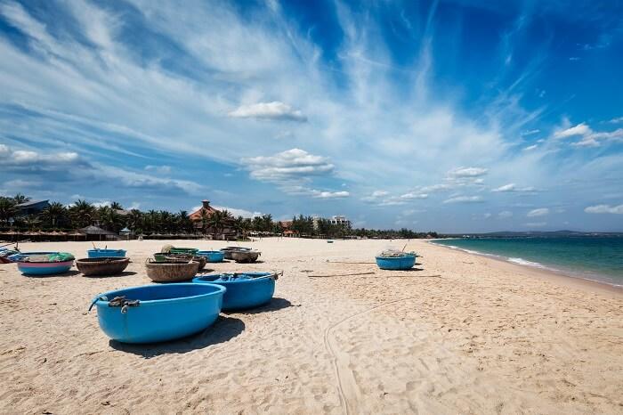 The quiet beaches of Mui Ne