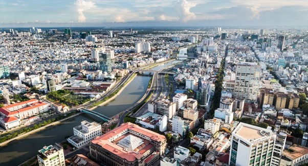 The bustling city of Ho Chi Minh