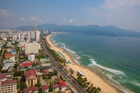Visit the miles of beaches in Danang