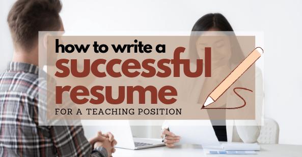 Successful Teacher Resume: A complete guide