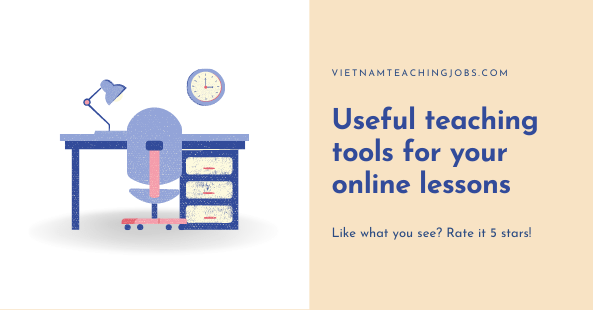 Useful teaching tools for your online lessons