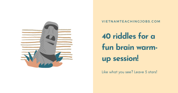 40 riddles for a fun brain warm-up session!