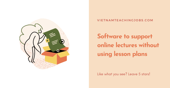 Software to support online lectures without using lesson plans