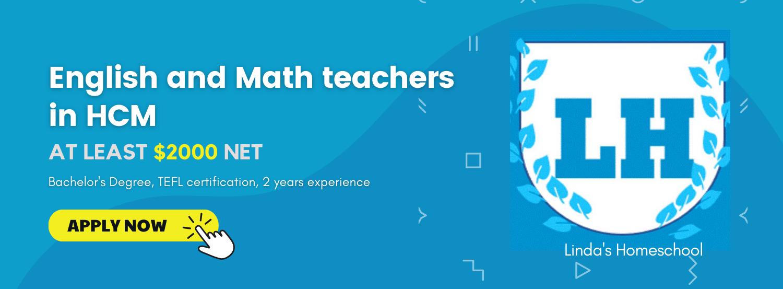 English and Math teachers_Ho Chi Minh City